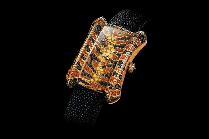 эксклюзивные часы из белого золота с бриллиантами